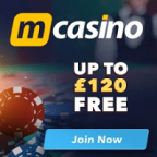 MCasino - 10x Win on £1 Free Bonus