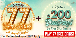 777 Casino UK Free Sign Up Bonus