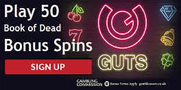 Guts Casino UK Spins Bonus