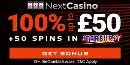Next Casino UK Sign Up Spins Bonus