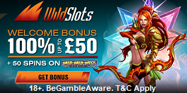 Wild Slots UK Welcome Bonus