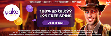 Yako Casino Welcome Free Spins